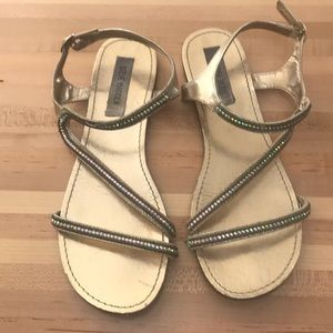 Steve Madden gold sandals